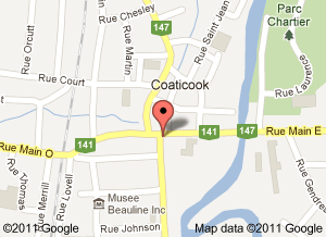 Carte Coaticook